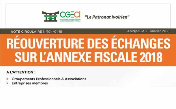 Réouverture des échanges sur l'annexe fiscale 2018