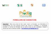Formulaire de candidature Prodije : Appel à projet N°5