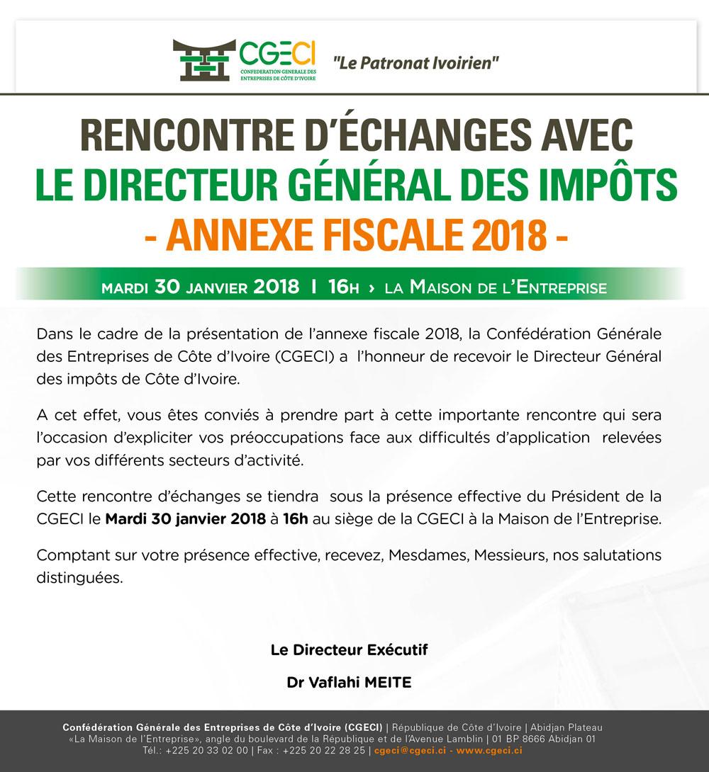 Communiqué-Présentation Annexe fiscale