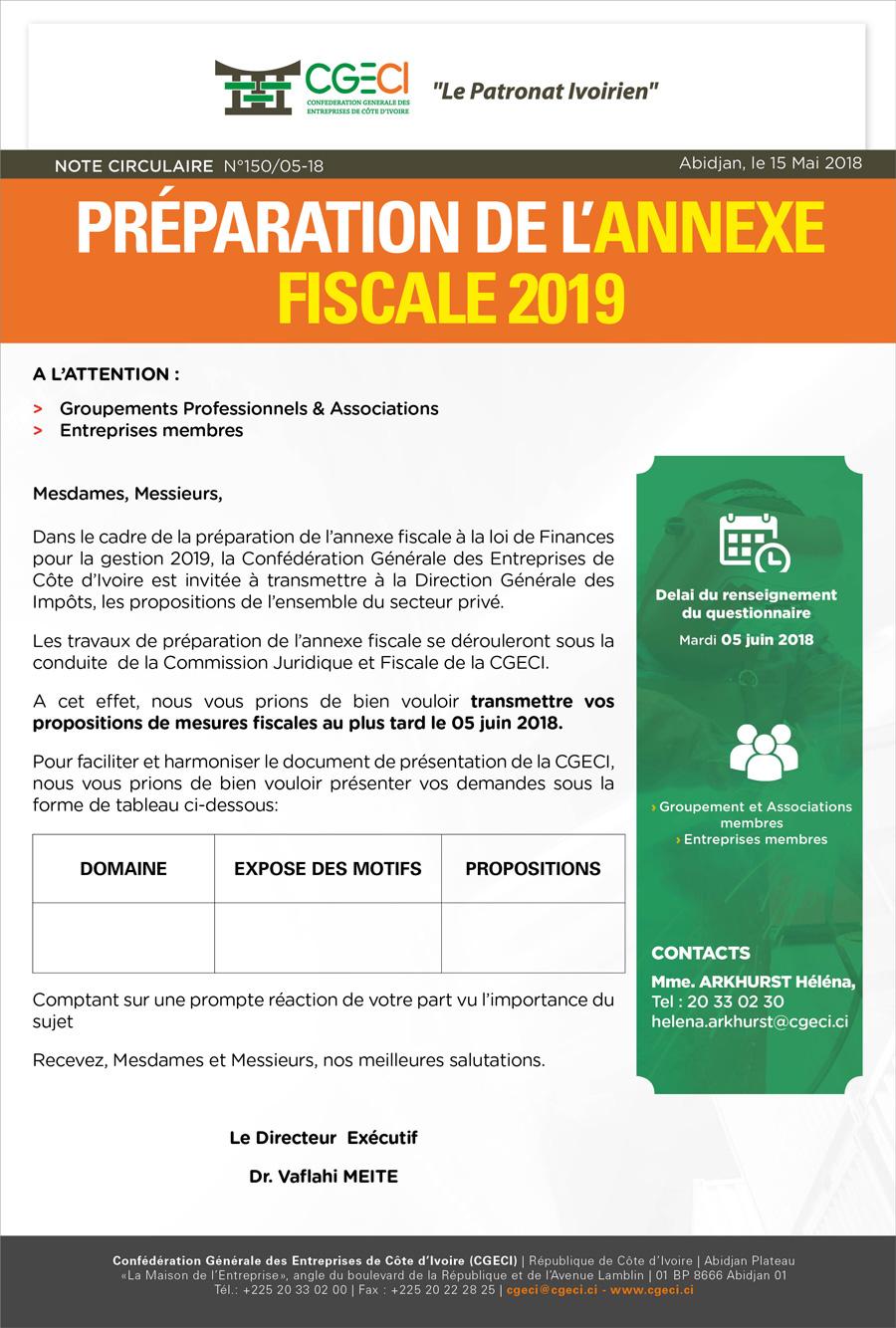 Préparation-annexe-fiscale-2019