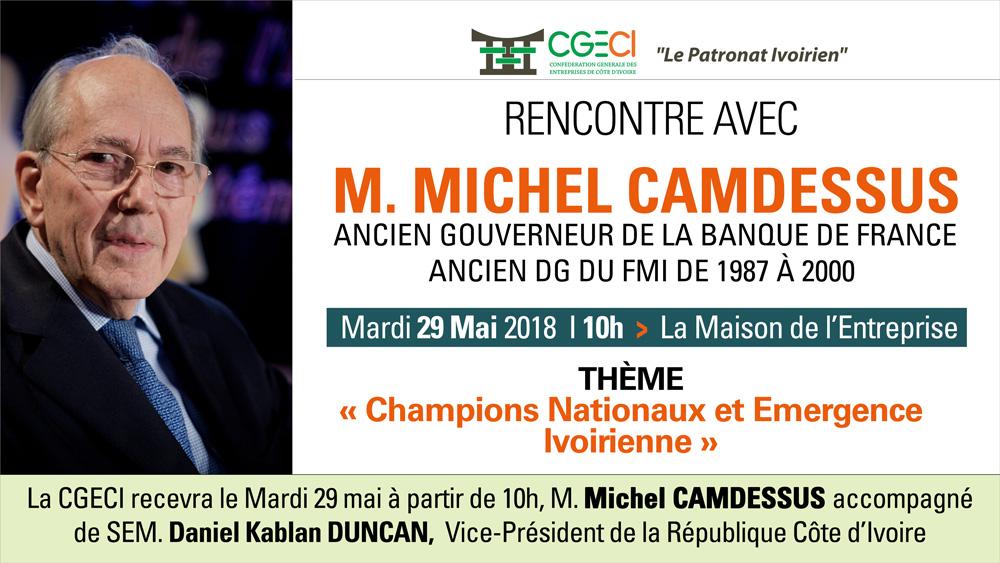 """Résultat de recherche d'images pour """"Michel camdessus à Abidjan,"""""""