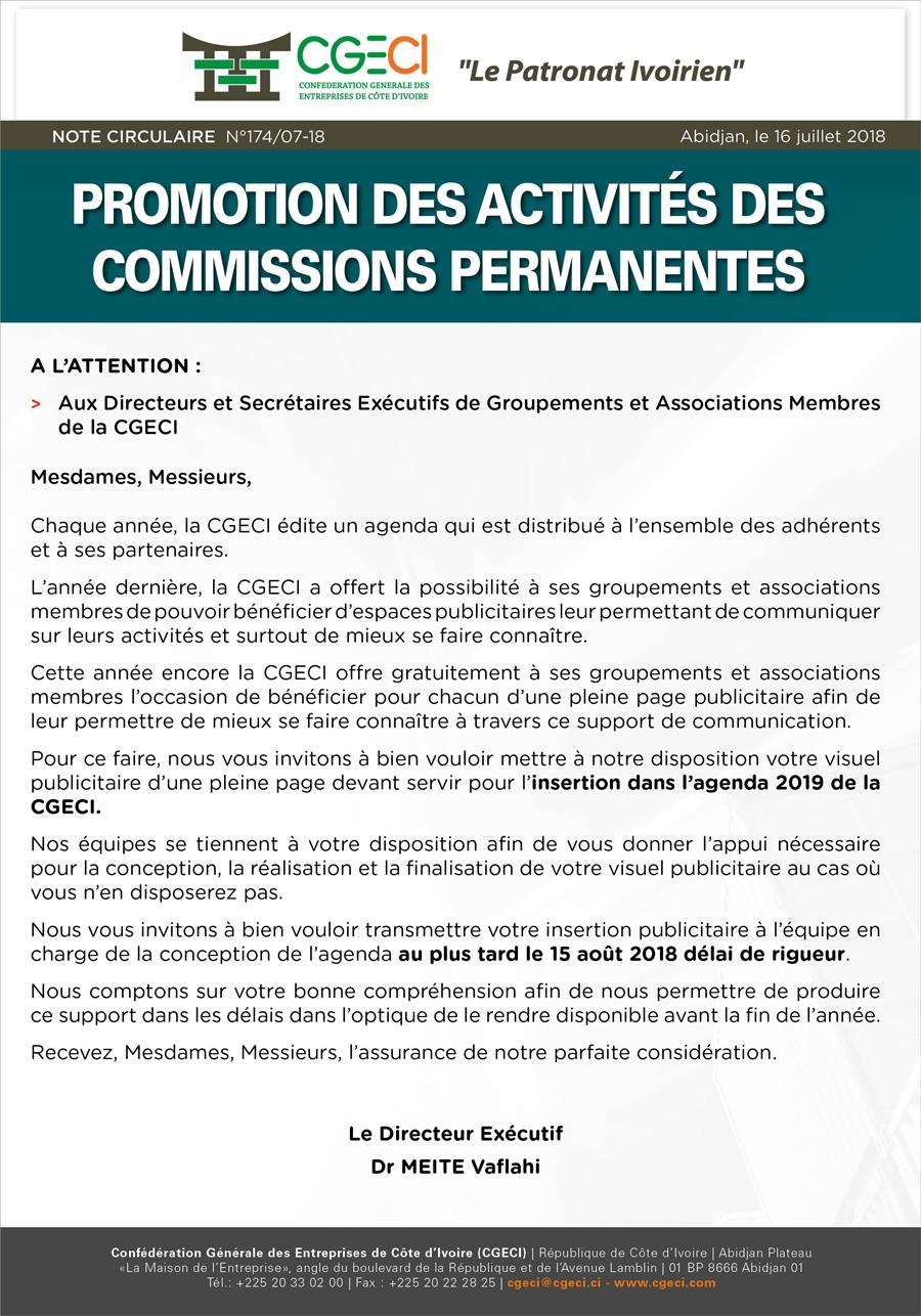Promotion des activistes des Commissions permanentes