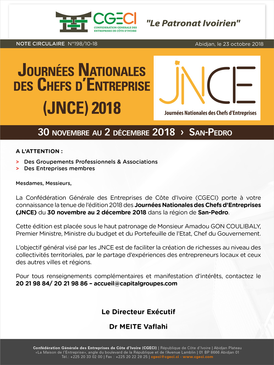JNCE 2018