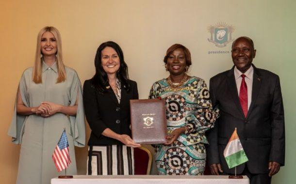 Programme du Compact du Millenium Challenge Corporation: La Ministre Kandia Camara et Mme Karen Sessions, vice-Présidente du MCC, signent un accord indispensable au déblocage de fonds