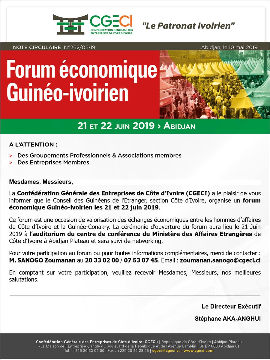 Forum économique Guinée-ivoirien