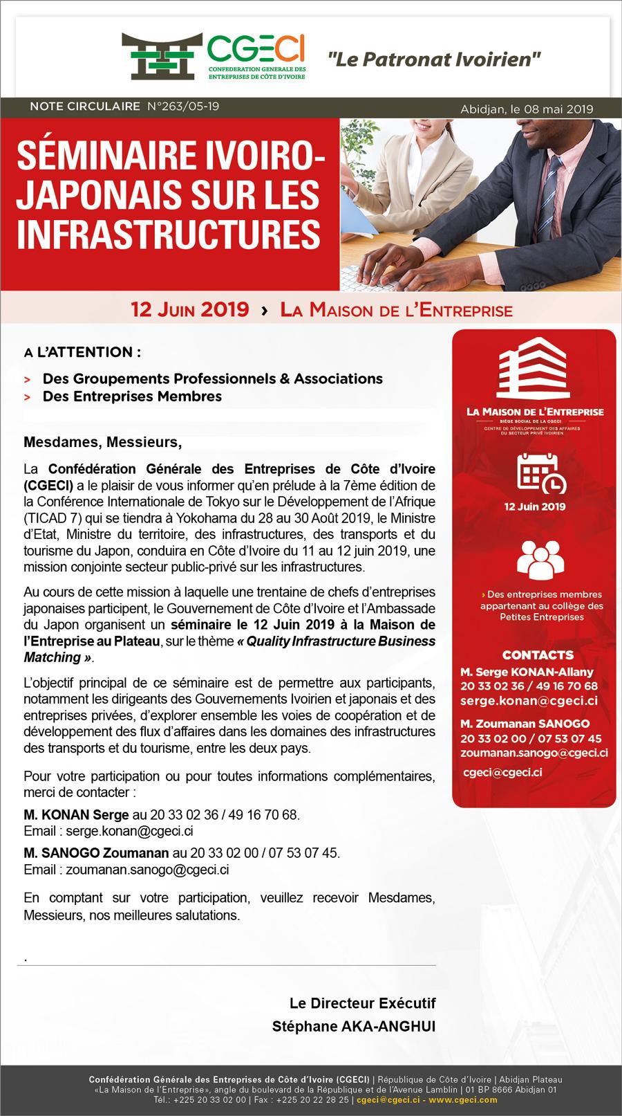 Séminaire Ivoiro-japonais sur les infrastructures