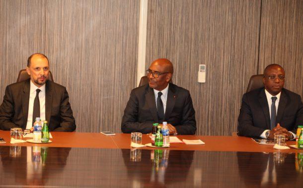 Visite de travail : La président Jean-Marie Ackah et le Ministre délégué auprès du Ministre des Affaires Etrangères, chargé de la Coopération  Africaine du Maroc dans une dynamique de renforcement de la coopération économique entre les deux pays