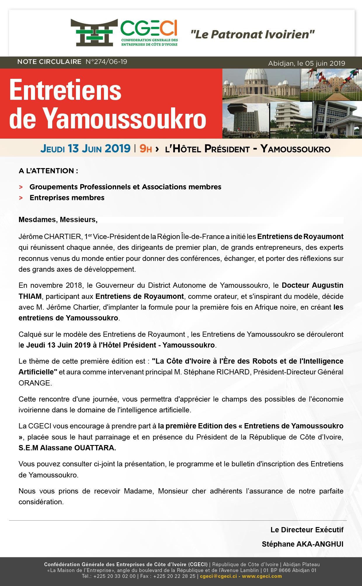 Les «Entretiens de Yamoussoukro»