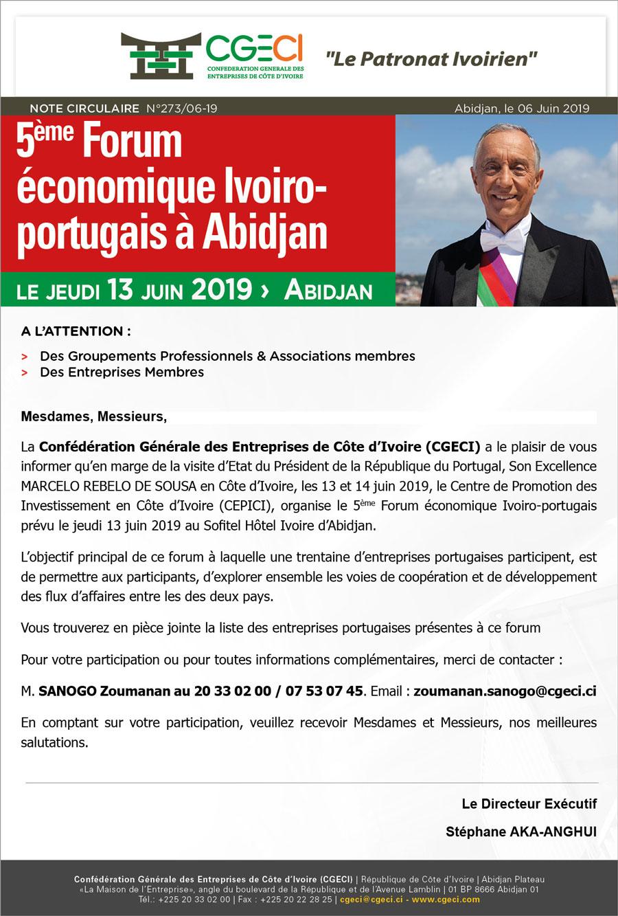 5ème Forum économique Ivoiro-portugais à Abidjan
