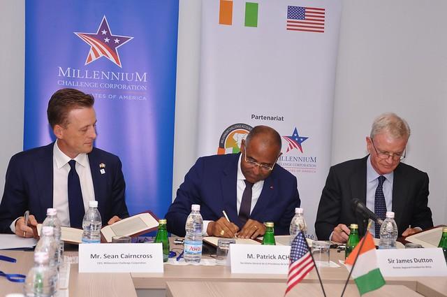 Millenium Challenge Corporation : Le Programme Compact de la Côte d'Ivoire   entre officiellement en vigueur  le lundi 5 août 2019