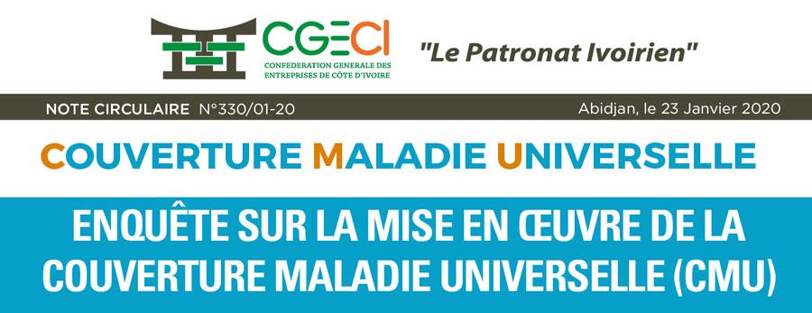 Circulaire d'enquête sur la mise en œuvre de la Couverture Maladie Universelle (CMU)
