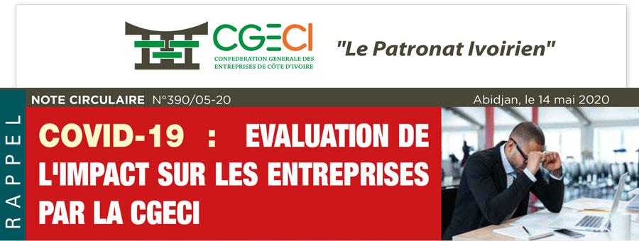 Questionnaire de la CGECI relatif à l'évaluation de l'impact de la pandémie de la Covid-19 sur les entreprises