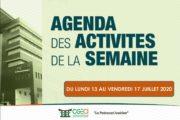 AGENDA DE LA SEMAINE DU 13 AU 17 JUILLET 2020