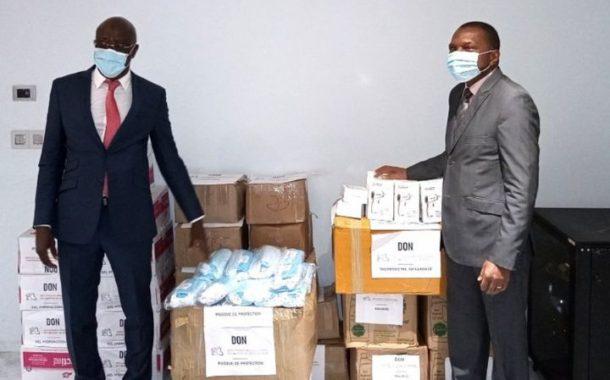 Cote d'Ivoire : Le Groupement Professionnel Des Miniers de Côte D'Ivoire offre 33 millions Fcfa en matériels sanitaires au Gouvernement