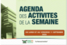 AGENDA DE LA SEMAINE DU 07 AU 11 SEPTEMBRE 2020