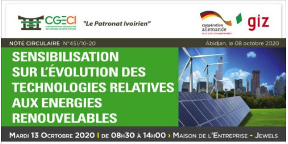 Note circulaire N°451 - Sensibilisation sur l'évolution des technologies relatives aux Energies Renouvelables