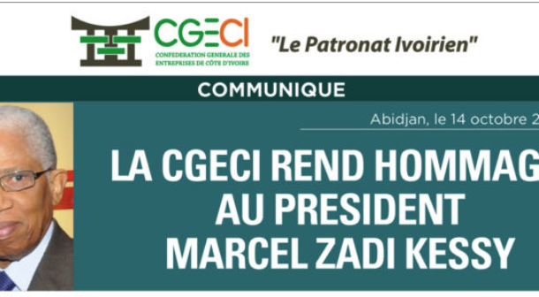 LA CGECI REND HOMMAGE A MARCEL ZADI KESSY