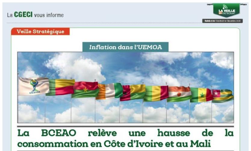 Inflation dans l'UEMOA