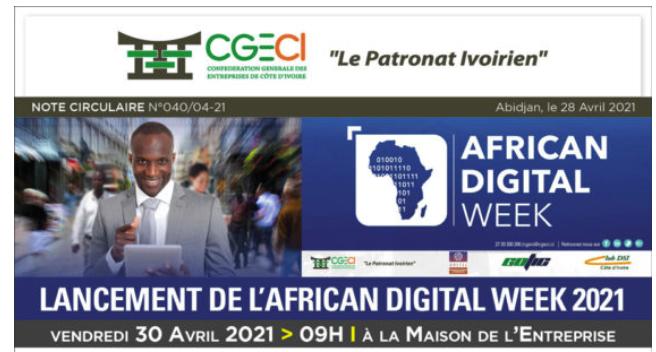 Lancement de l'AFRICAN DIGITAL WEEK 2021