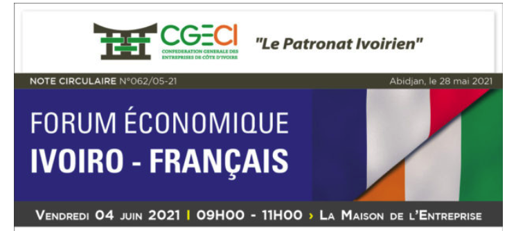 Forum économique Ivoiro - Français