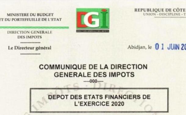 COMMUNIQUE DE LA DIRECTION GENERALE DES IMPOTS
