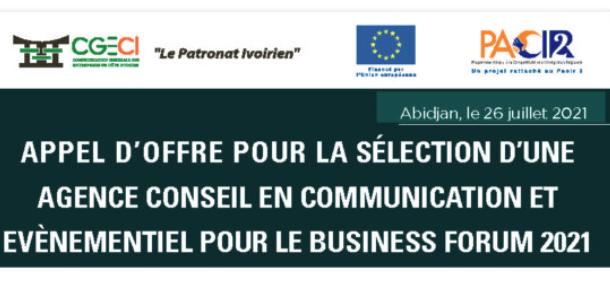 Communiqué Appel d'offre-Business Forum