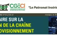 NOTE CIRCULAIRE N°105- WEBINAIRE SUR LA GESTION DE LA CHAINE D'APPROVISIONNEMENT